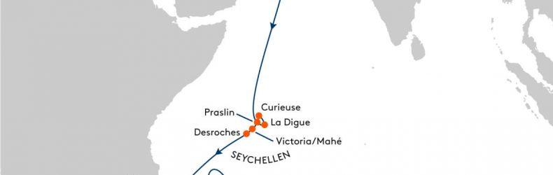 Hapag Lloyd Route Seychellen