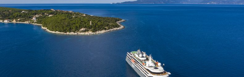 Zodiac excursion from cruise ship World Explorer (nicko cruises), near Fiskardo, Kefalonia, Ionian Islands, Greece